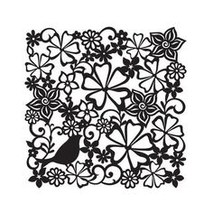Viva Decor Background Stencil 29 x 29cm - Flower Meadow #06