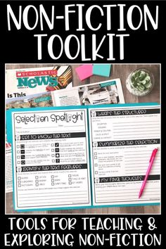 Non Fiction Toolkit Nonfiction Text Features, Fiction And Nonfiction, Fiction Writing, Tools For Teaching, Teaching Reading, Guided Reading, Close Reading, Teaching Spanish, Teaching Ideas