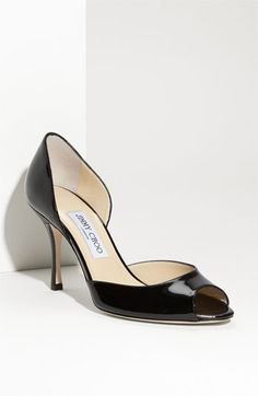 Jimmy Choo 'Logan' d'Orsay Pump - in black patent - my go-to shoe for daily wear. Shoe Boots, Shoes Heels, Professional Wear, Jimmy Choo Shoes, 2 Inch Heels, Black Pumps, Women's Pumps, Me Too Shoes, Kitten Heels