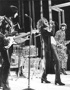 The Who  Photo Caption: The Who 1970 John Entwistle, Roger Daltrey and Pete Townshend on BBC Into 71