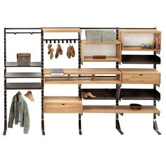 The West Elm Design Work Modular Wall Storage System Is A Flexible Bounty Of Shelves Tabletops And Hanging Units All With Craftsman Quality