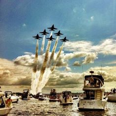 Seafair - Blue Angels. I've always dreamed of riding with the Blue Angels. I might pass out but it'd be worth it.