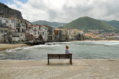 I want to sit here, and forget everything for like 5 minutes lol - Cefalu, Sicily
