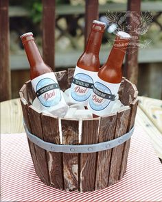 Birthday Cakes For Men, Birthday Beer, Beer Bottle Cake, Artisan Cake Company, Beer Bucket, How To Stack Cakes, Beer Wedding, Cake Gallery, Occasion Cakes