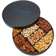 Cirque Gift Co. Gourmet Nut Gift Tray - Freshly Roasted Assorted Nuts for any occasion or Corporate Gifting Spices Packaging, Honey Packaging, Fruit Packaging, Cookie Packaging, Food Packaging Design, Assorted Nuts, Fruit Shop, Food Platters, Chocolate Gifts