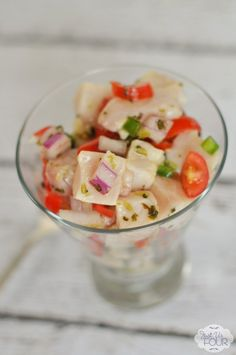 Love the spiciness of this tilapia ceviche.