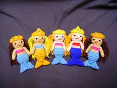 Free Crochet Amigurumi Mermaid Pattern : Ta da mere the mermaid amigurumi pattern red hair shell and
