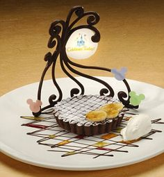 love the chocolate design on the plate