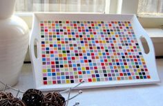 Custom Order - RESERVED - Patchwork mosaic tray Large