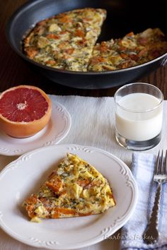 Roasted-Vegetable-Frittata 1 cup sweet potatoes 1 cup parsnip 2 tbs olive oil 1/4 tsp salt 1/4 tsp pepper 1/2 c red onion 6 Eggs 1/4 c milk 1/4 c grated Parmesan cheese 1 tbs fresh basil