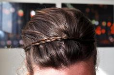 Ducklings In A Row - Hair + DIY Tutorials: Hair Tutorial: The Stay-Put Braided Headband