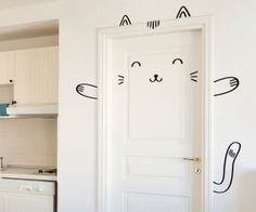 This awesome cat can make any surface look cute, and it does not leave any hair. You can arrange all the elements according to the size of your surface, hence this smug cat will fit on most doors, windows, fridges, closets or wherever you feel you need a friendly face. 45$