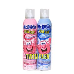 Bubble Foam Soap Twin Pack helps makes bath time fun. It's great for building foam sculptures in the tub. This foaming bath soap also offers a great-smelling clean and leaves skin soft and smooth. Casa Disney, Baby Shampoo, Bath Soap, Kids Store, Bubble Bath, Soap Making, Stocking Stuffers, At Least, Bubbles