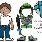 Teaching on the Armor of God?? Here is a fun lesson that can get really personal. Each child colors a paper version of themself (which can be mount...