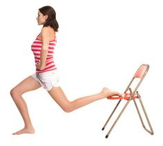 Chair legs: work you legs. Really works. I do with weight bench and 10-15 lb bumbbells.