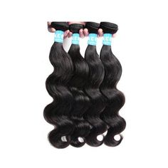Human Hair 16 inch16 inch18 inch18 inch 4 Bundles Body Wave Brazilian Weft Hair Extensions 6A, Black