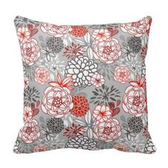 This soft pillow is an excellent addition that gives character to any space. It comes with a soft polyester insert that will retain its shape after many uses, a Red Throw Pillows, Floral Pillows, Soft Pillows, Decorative Throw Pillows, Pattern, Site Visit, Fresh, Pretty, Products
