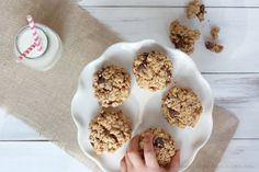 Chia Seed Peanut Butter Chocolate Chip Oatmeal Cookies