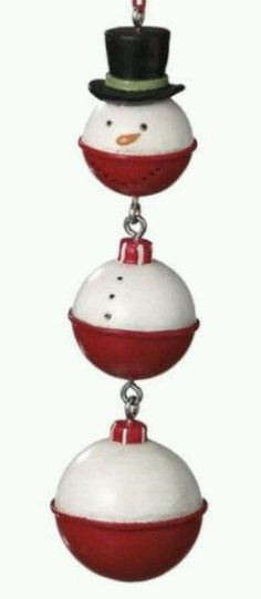 Christmas ornament from fishing floats