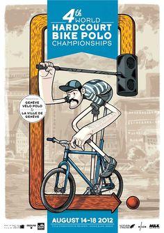 World Hardcourt Bike Polo Championshios Urban Cycling, Cycling Art, Cycling Bikes, Bike Humor, Character Inspiration, Character Design, Polo Design, Bike Illustration, Cycle Ride