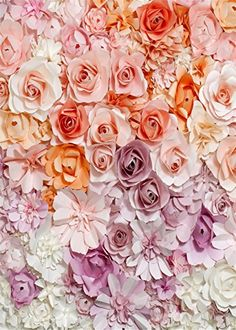 5x7ft (150x210cm) Valentine's Backdrop Pink and White 3D Flowers Photography Backdrops for Baby Studio