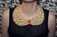 Vintage Style Flowers Peter Pan Collar by justpixiedust on Etsy, $19.99