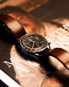 Omega Speedmaster on a Bas & Lokes Excelsior strap : Watchbands Omega Speedmaster Watch, List Of Brands, Nato Strap, Watches Online, Watch Bands, Omega Watch, Community, Inspiration, Accessories