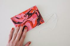 Miss Amy Phipps... Brighton UK // Craft // Vegan // Lifestyle: Craft - Marbled Notebook DIY