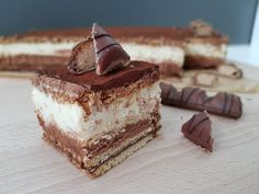 """Kinder Bueno"" cake without baking - Kinder Cake Recipes, Dessert Recipes, Food Cakes, Tiramisu, No Bake Cake, Nom Nom, Cheesecake, Nutella, Chocolate"