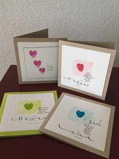 """Liebe Besucher """"Herzensangelegenheiten"""" sind Karten mit Herz. Die kommen von Herzen und gehen zu Herzen. Hier eine kleine Auswa..."""