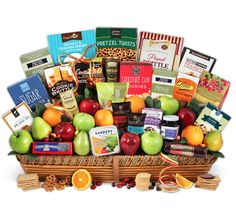 """Signature Series"" Fruit and Gourmet Gift Basket"