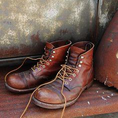 Red wing Iron Rangers 8111 Amber Harness Leather Boots | Red Wing ...