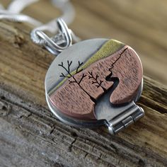 A stunning design plus the sentiment of a photo locket will surely make this design one of your favorite, never-take-it-off pieces. #handmade #photolocket #bethmillnerjewelry