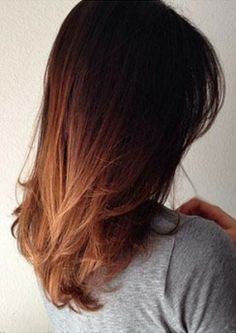 Soft and natural ombre hairstyle.