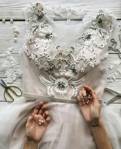 Detailed wedding gown with belt and appliqué Evening Dresses, Prom Dresses, Formal Dresses, Bridal Gowns, Wedding Gowns, Lovely Dresses, Dream Dress, The Dress, Dress To Impress