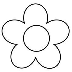 free applique pattern - flower