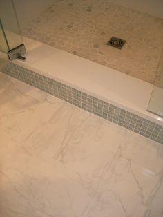 American Olean Candalara Glass Bathroom shower step
