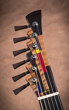 Michihiro Matsuda raises the bar in the art of Luthiery – Guitar Connoisseur Magazine Guitar Crafts, Guitar Diy, Music Guitar, Cool Guitar, Playing Guitar, Ukulele, Custom Electric Guitars, Custom Guitars, Guitar Inlay
