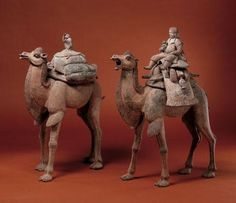xx..tracy porter..poetic wanderlust- animals in art-Tang Dynasty Camels with Riders and Pet Monkeys
