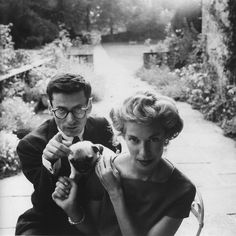 Richard Avedon and his wife at Reddish House, by Cecil Beaton