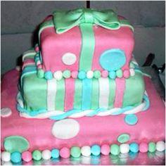 My first fondant cake!