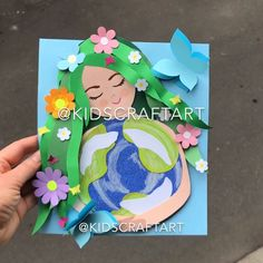 Earth day ecology nature paper crafts for kids - ecological Earth Day Projects, Earth Day Crafts, Nature Crafts, Art Projects, Halloween Crafts For Toddlers, Paper Crafts For Kids, Toddler Crafts, Art Drawings For Kids, Art For Kids