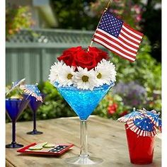 Cheers to the Red, White and Blue Bouquet #july4th