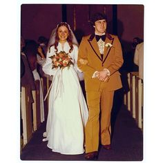 savefamilyphotos:  (April 10, 2014) On April 10, 1970, Paul McCartney publicly announced The Beatles' break-up. Exactly six years later, something almost as tragic occurred… this suit (luckily it didn't scare the bride away). A special #tbt today in honor of these two crazy kids… HAPPY 38th ANNIVERSARY, Mom & Dad!  #savefamilyphotos Thanks, karen_annie http://ift.tt/1et7el8 @savefamilyphotos