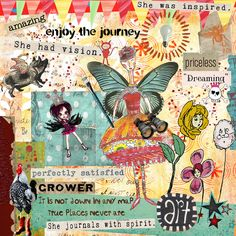 "Art Journaling Topic: ""She"". May Art Journal Caravan Adventure Quest by thimbleberrie. http://tangiebaxter.com/news/2011/09/21/art-journaling-101-what-to-write/"