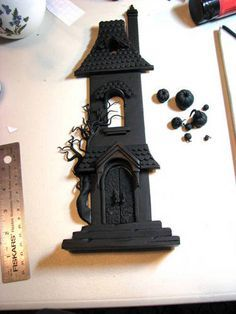 Halloween House#2 Painted or not? (Image heavy) - POTTERY, CERAMICS, POLYMER CLAY