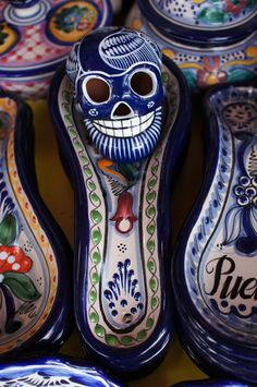Calavera (Skull) in a Market in Puebla, Mexico - Dia de los muertos