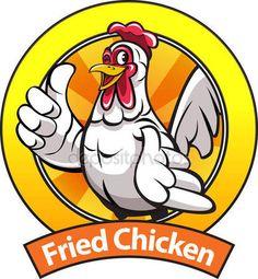 Fried chicken mascot — Stock Vector © msjeje #133371112