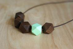 DIY Geometric Necklace (under $2.50 to make)
