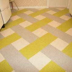 Basketweave linoleum pattern